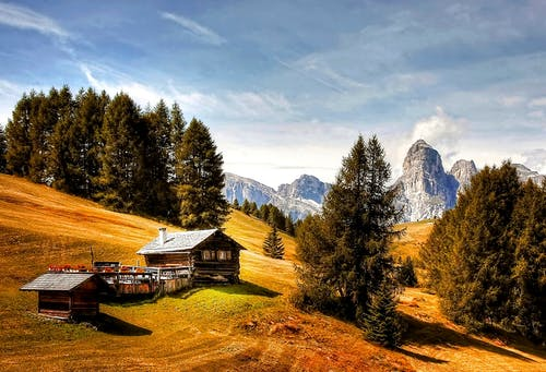 Immagine gratuita di alberi, alm, avventura, cabina