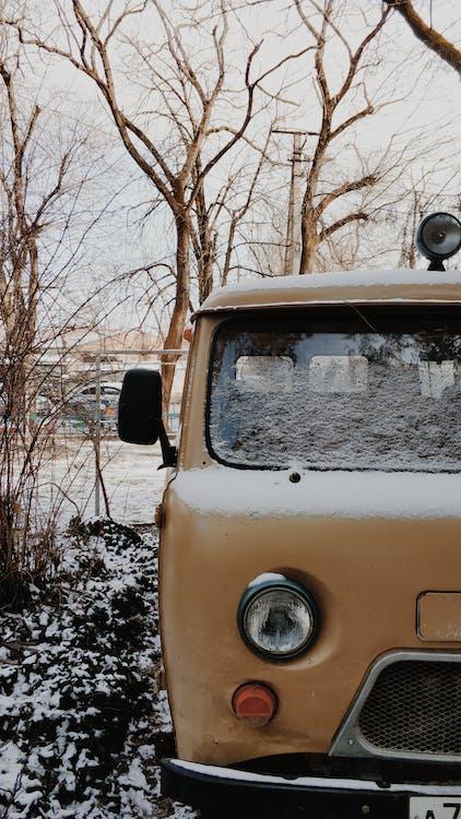 Vintage Volkswagen Parked on Road