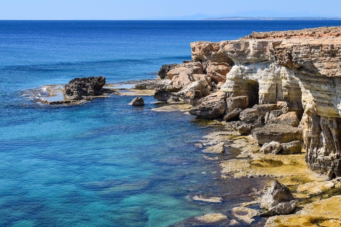 apă, bolovani, Cipru