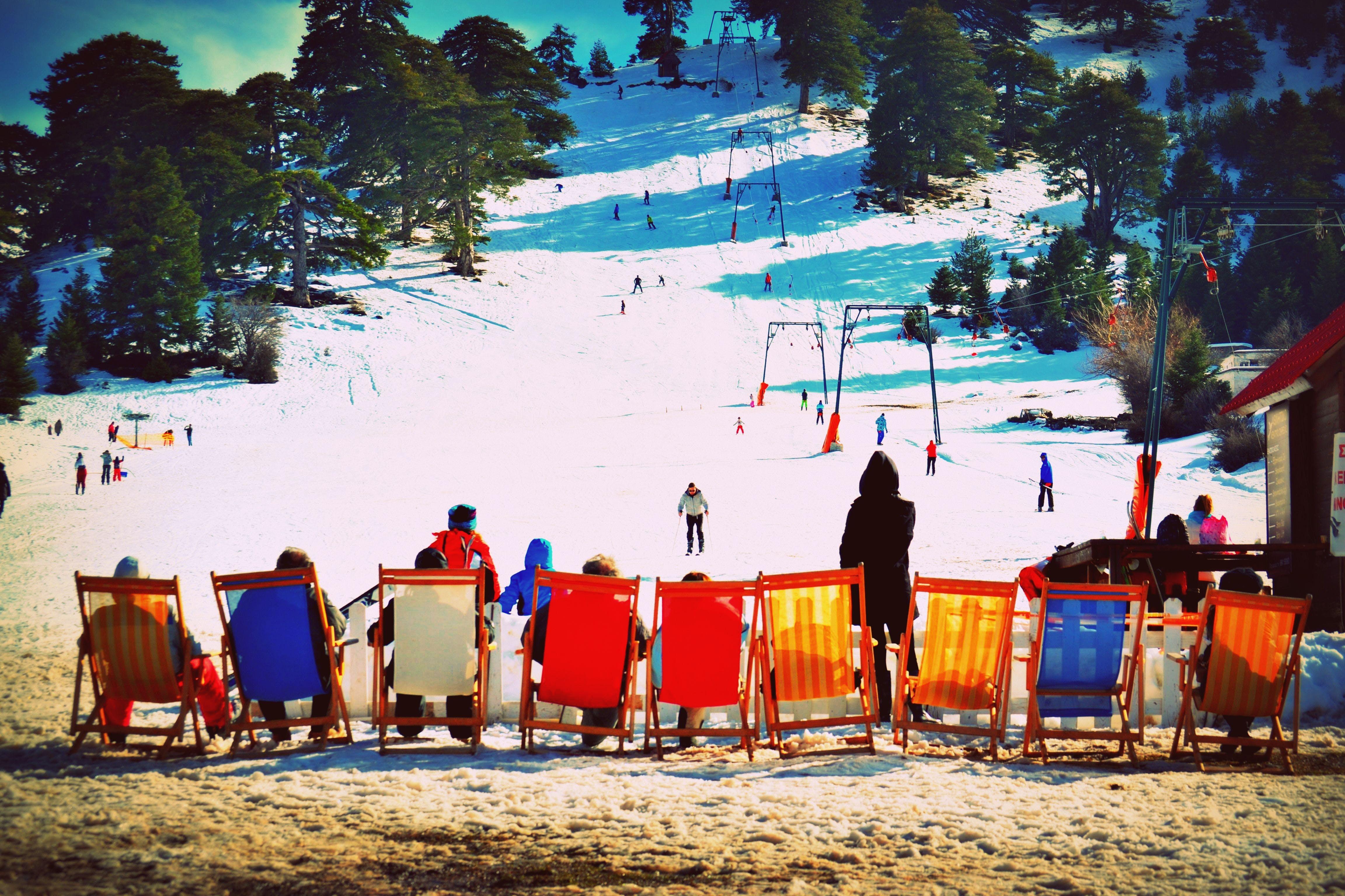 Free stock photo of snow, people, winter, lying