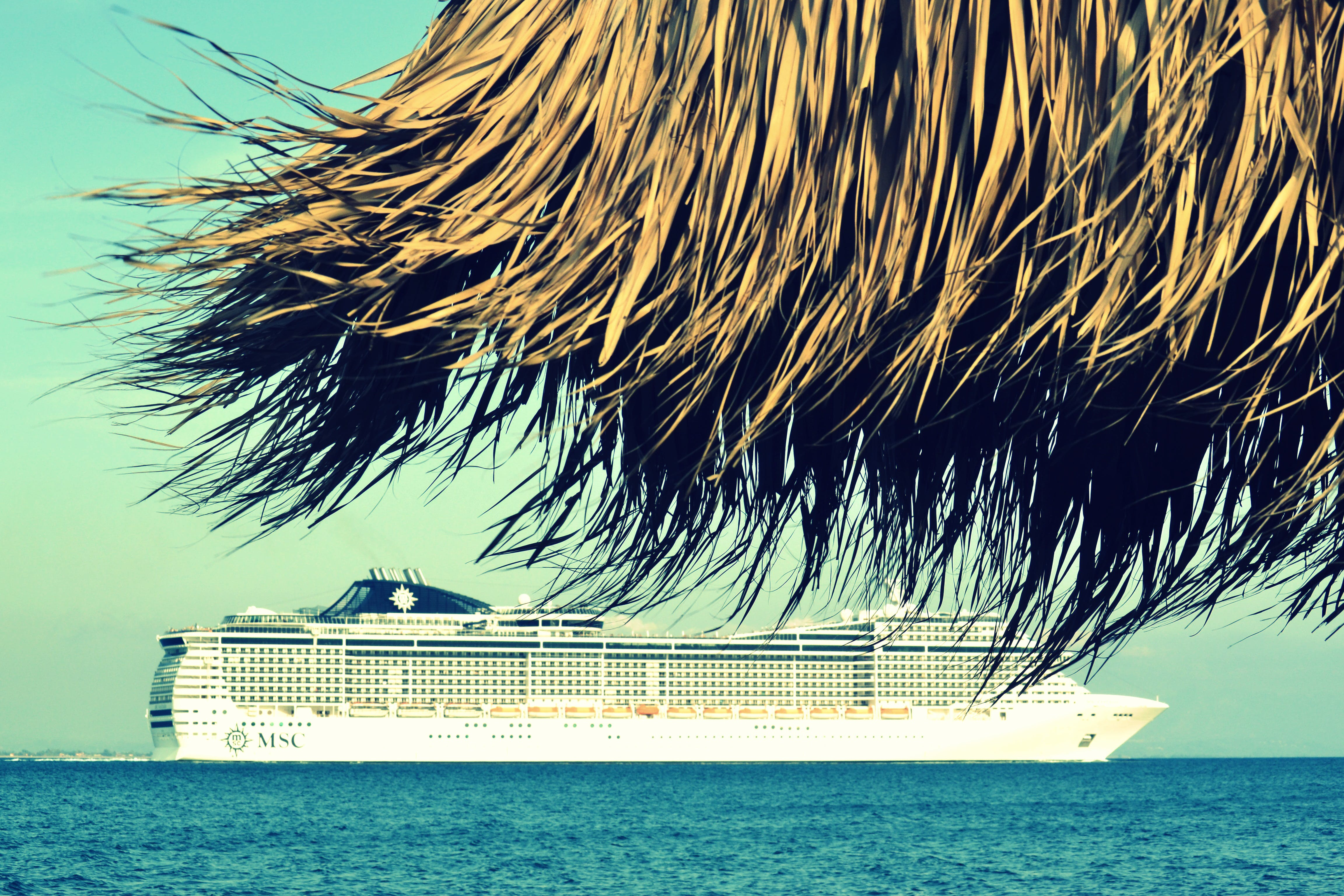Cruise Ship Roaming on Body of Water