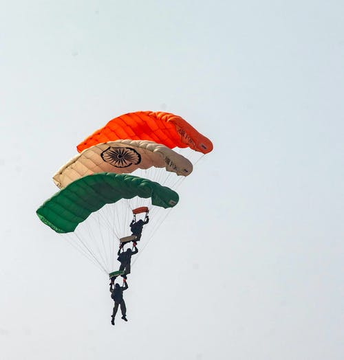 Free stock photo of air force, air show, colors of india, india