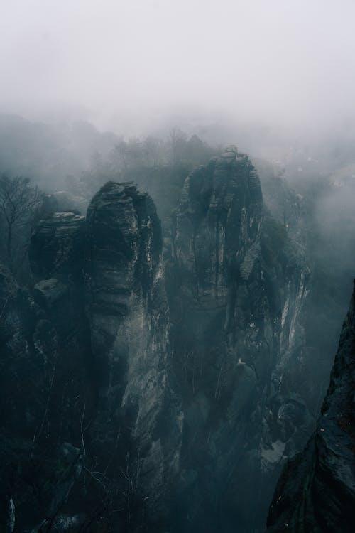 Gray Rock Mountain on a Hazy Atmosphere