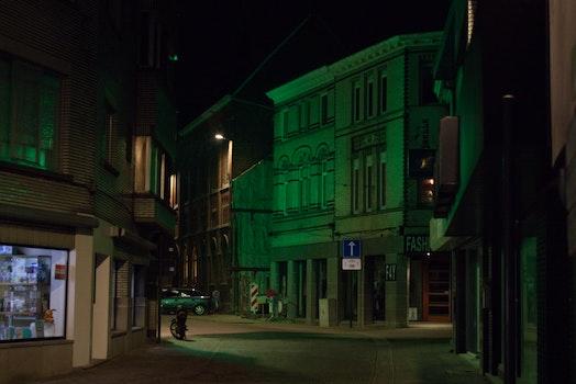 Free stock photo of night, street, street light, street lamp