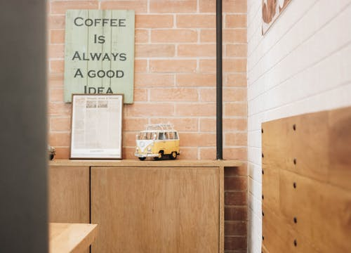 Free stock photo of bar cafe, bricks, cafeteria, quote