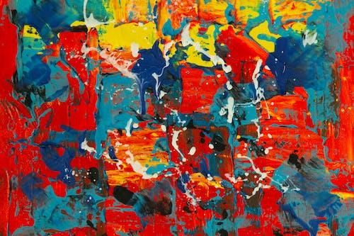 Gratis lagerfoto af abstrakt, abstrakt maleri, akrylmaling, baggrund