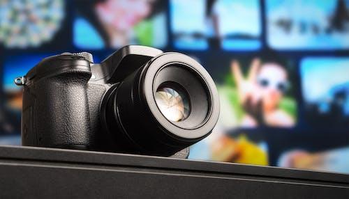 Photos gratuites de appareil photo, appareil photo reflex numérique, arrière-plan flou, concentrer
