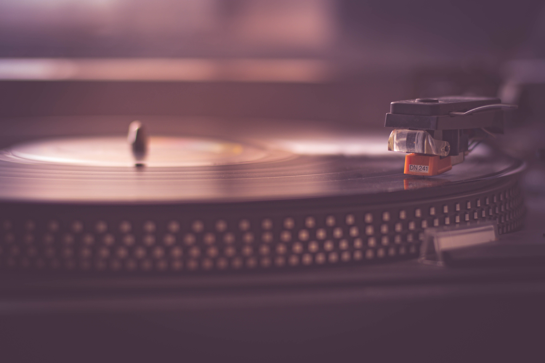 Shallow Focus of Black Vinyl Player