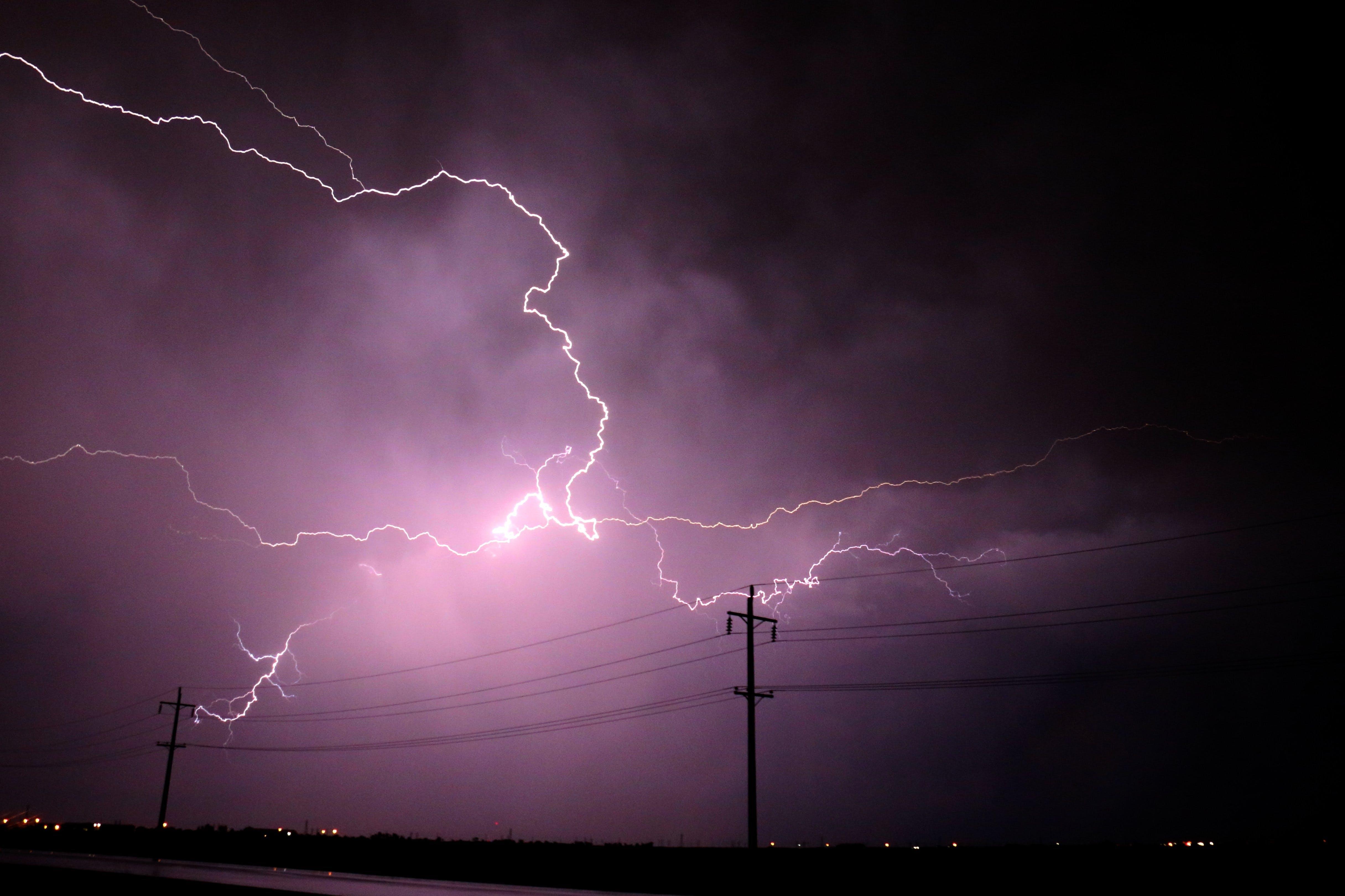 Lightning Strike during Nighttime