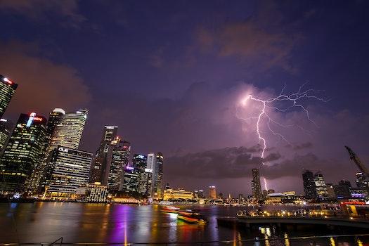 Free stock photo of light, city, sky, night