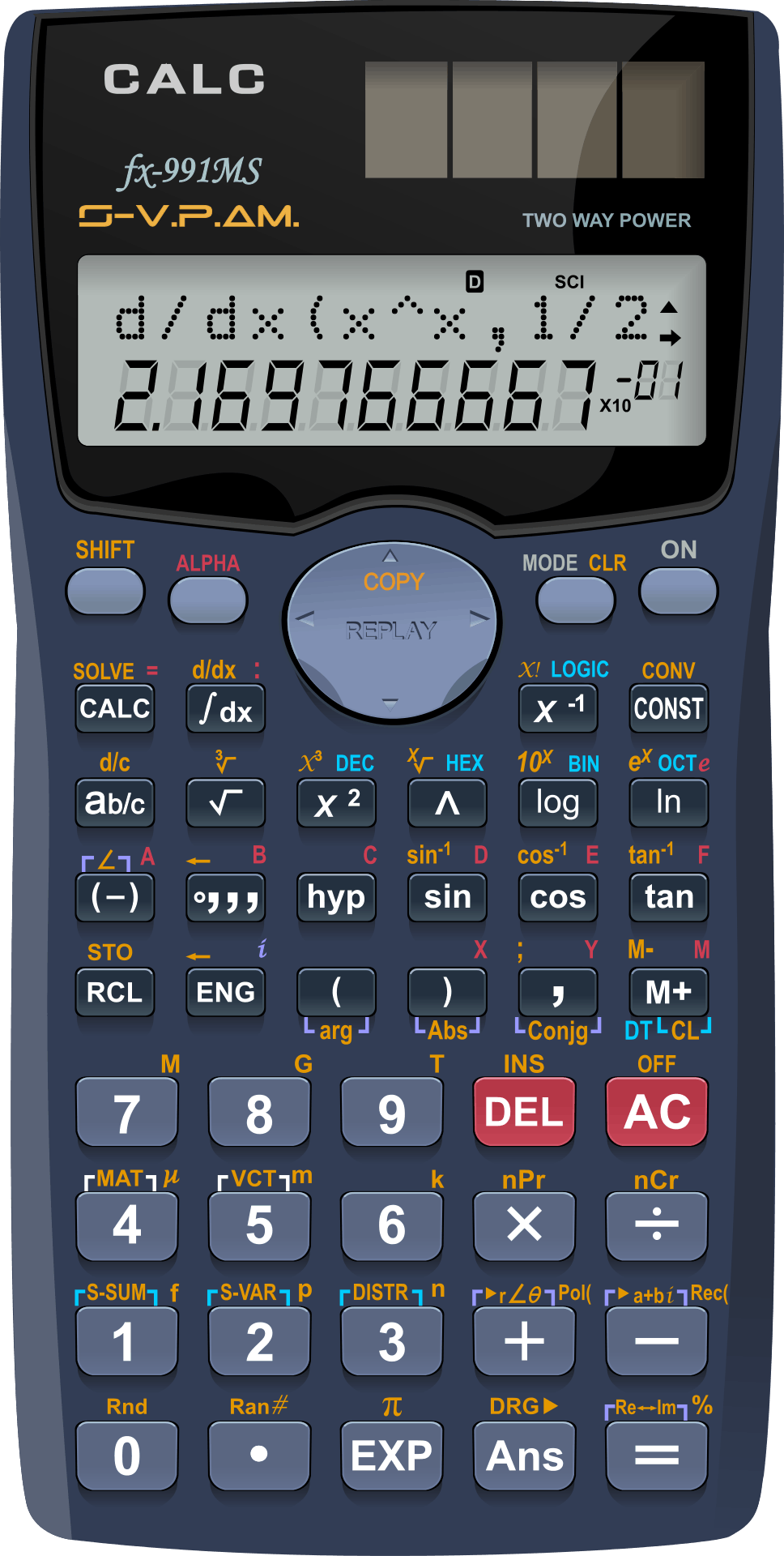 Gray and Black Casio Scientific Calculator