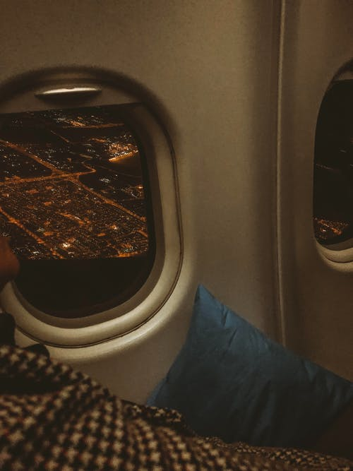 Free stock photo of air travel, airplane, city night, destination