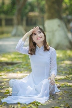 Free stock photo of portrait, daughter, vietnamese, the park