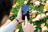 person, hand, smartphone
