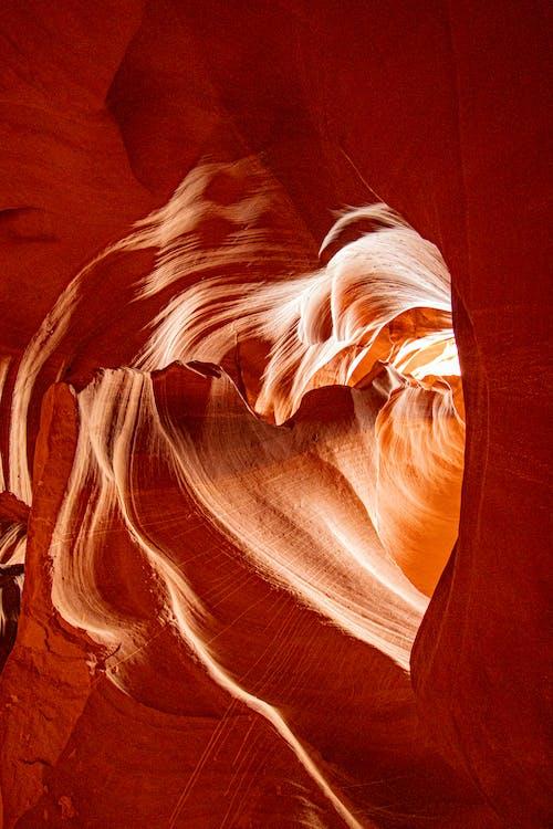 Základová fotografie zdarma na téma antilopí kaňon, eroze, fotografie přírody