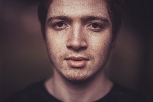 Free stock photo of man, person, dark, eyes