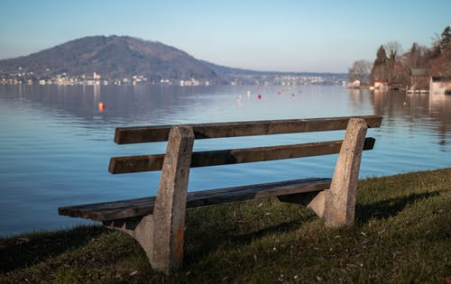Free stock photo of back view, bay view, beautiful view, bench