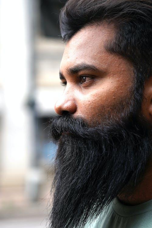 Side Profile of Bearded Man
