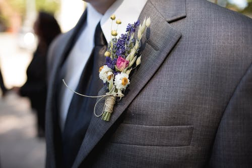 Men's Gray Suit Jacket
