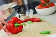 vegetables, kitchen, cutting board