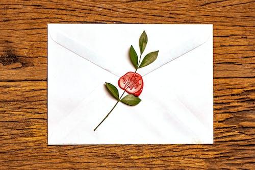 Free stock photo of envelope, stamp, valentine, wax