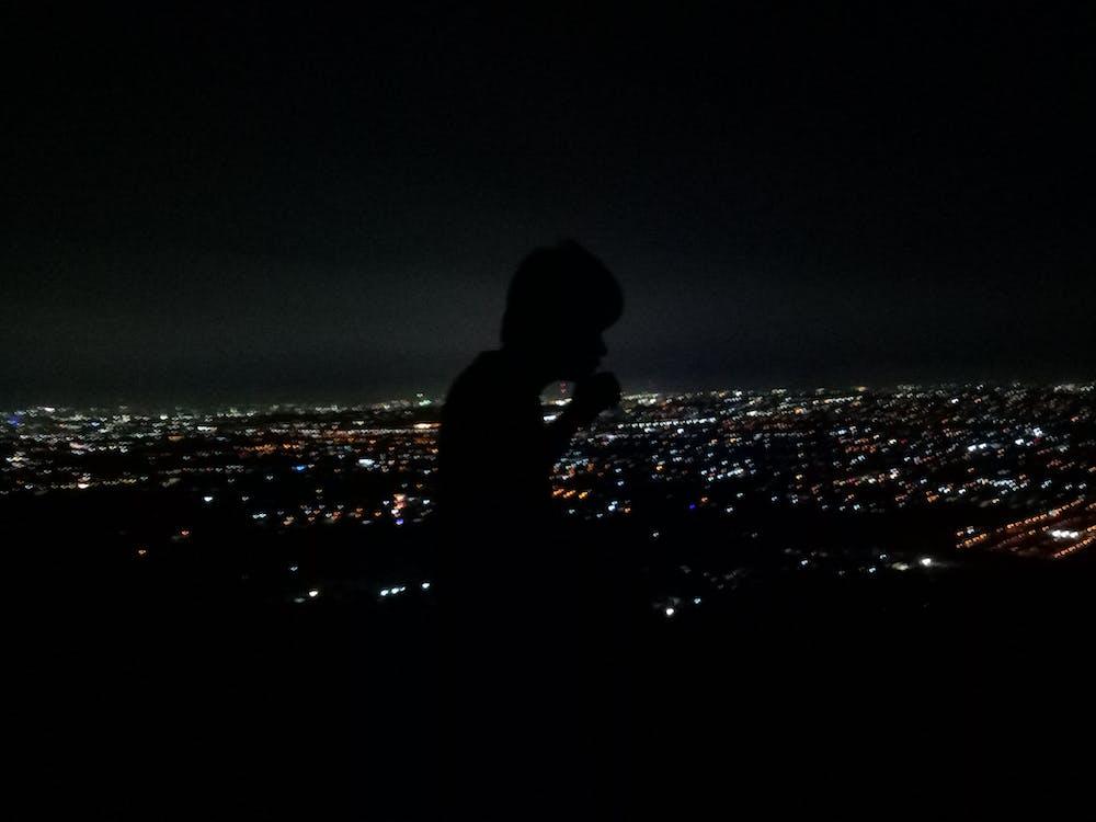 城市景觀, 城市的燈光, 山頂 的 免费素材图片