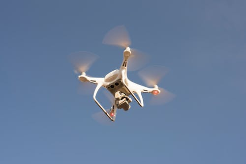 Low Angle Shot of Drone Flying in the Sky