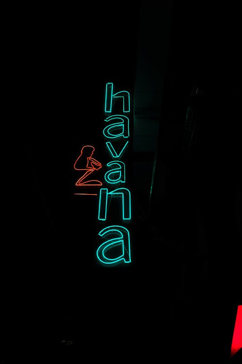 Mavi Ve Kırmızı Unk Neon Işık Tabela