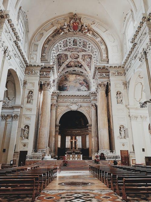Základová fotografie zdarma na téma architektura, asile, církev, design interiéru