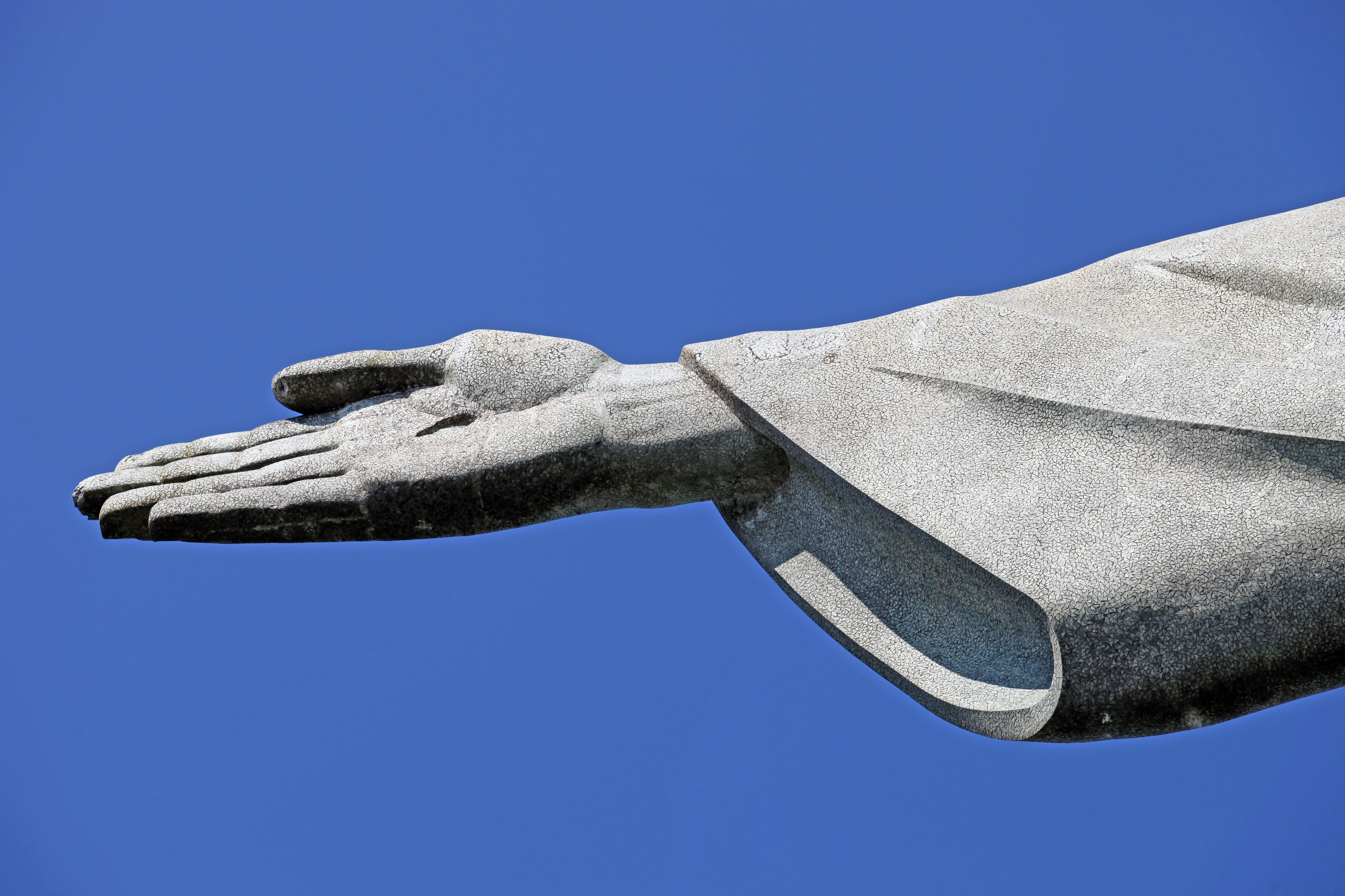 Free stock photo of hand, statue, detail, brazil