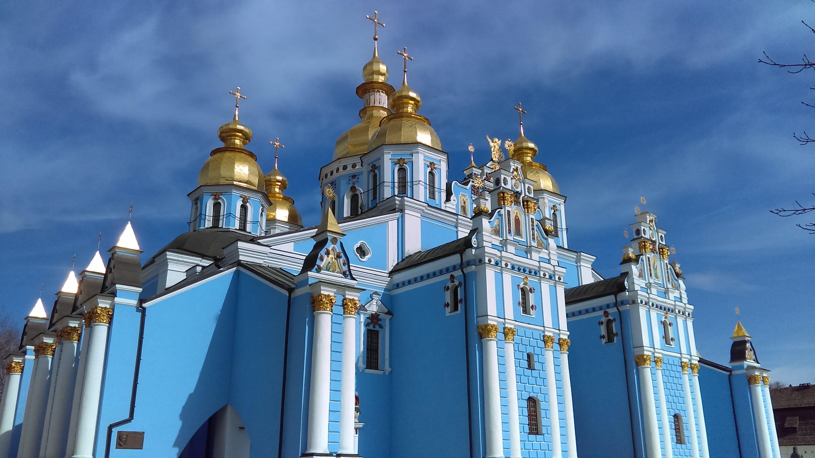 ancient, architecture, blue
