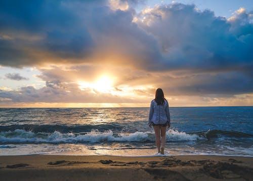 Imagine de stoc gratuită din apus de soare, atmosferă de vară, călătorie, cer cu nori
