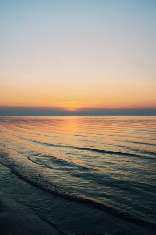 Free stock photo of beach sunset, nature, sea, view