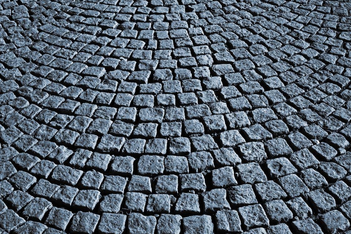 Black and White Brick Pavement