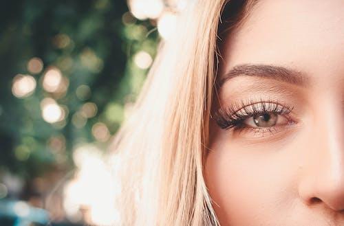 Kostnadsfri bild av kvinna, närbild, öga, ögonfransar