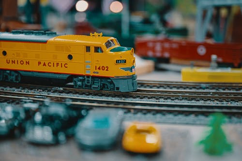 Yellow and Blue Train Toy