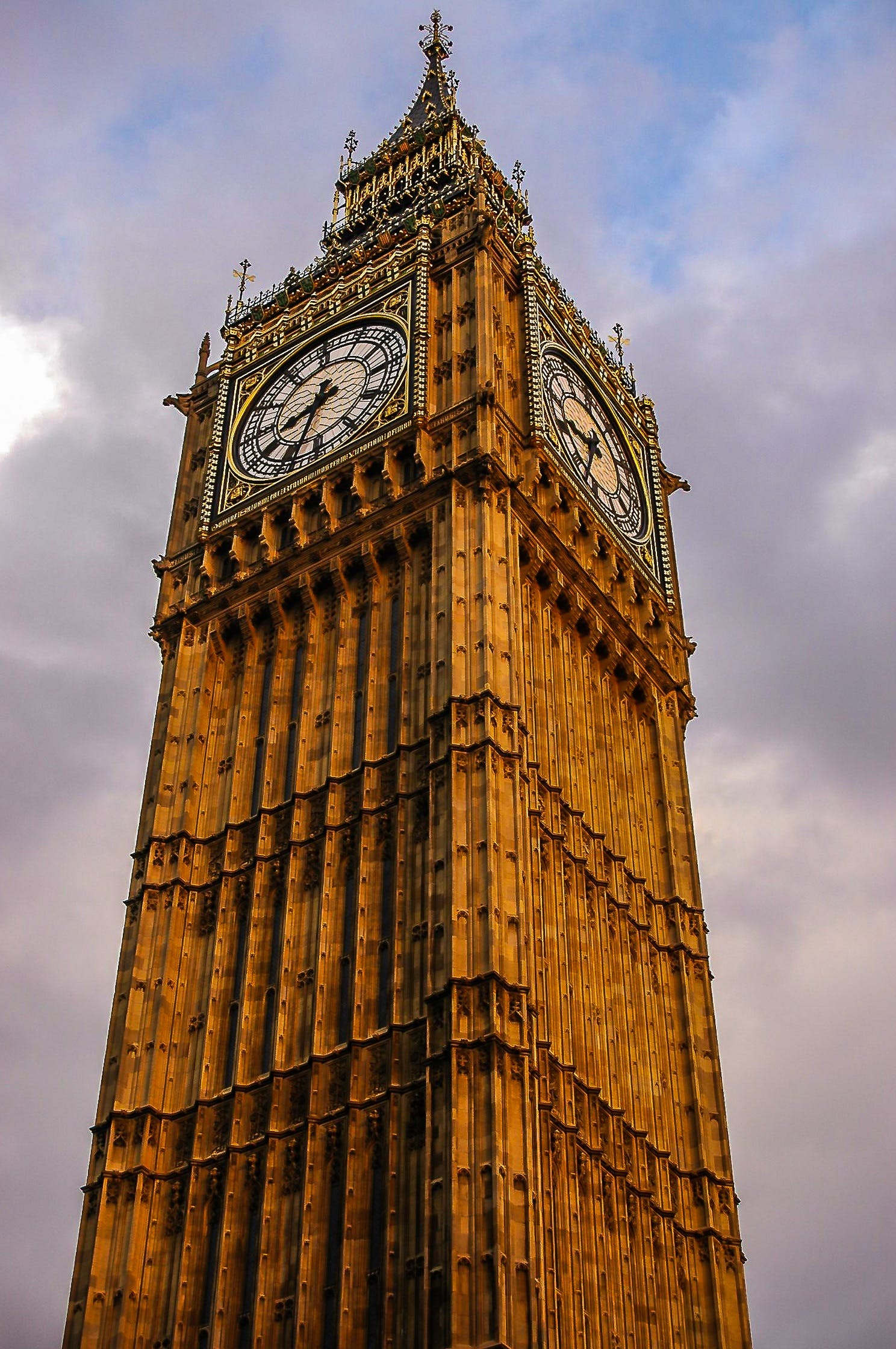 Bottom View of Big Ben