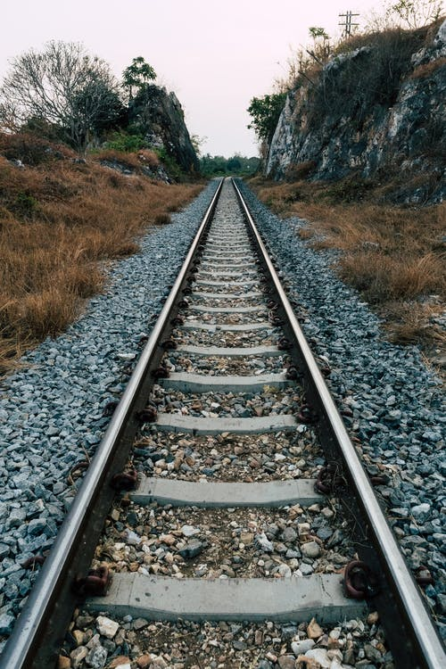 Free stock photo of kanchanaburi, mountain rocks, rail, rail track