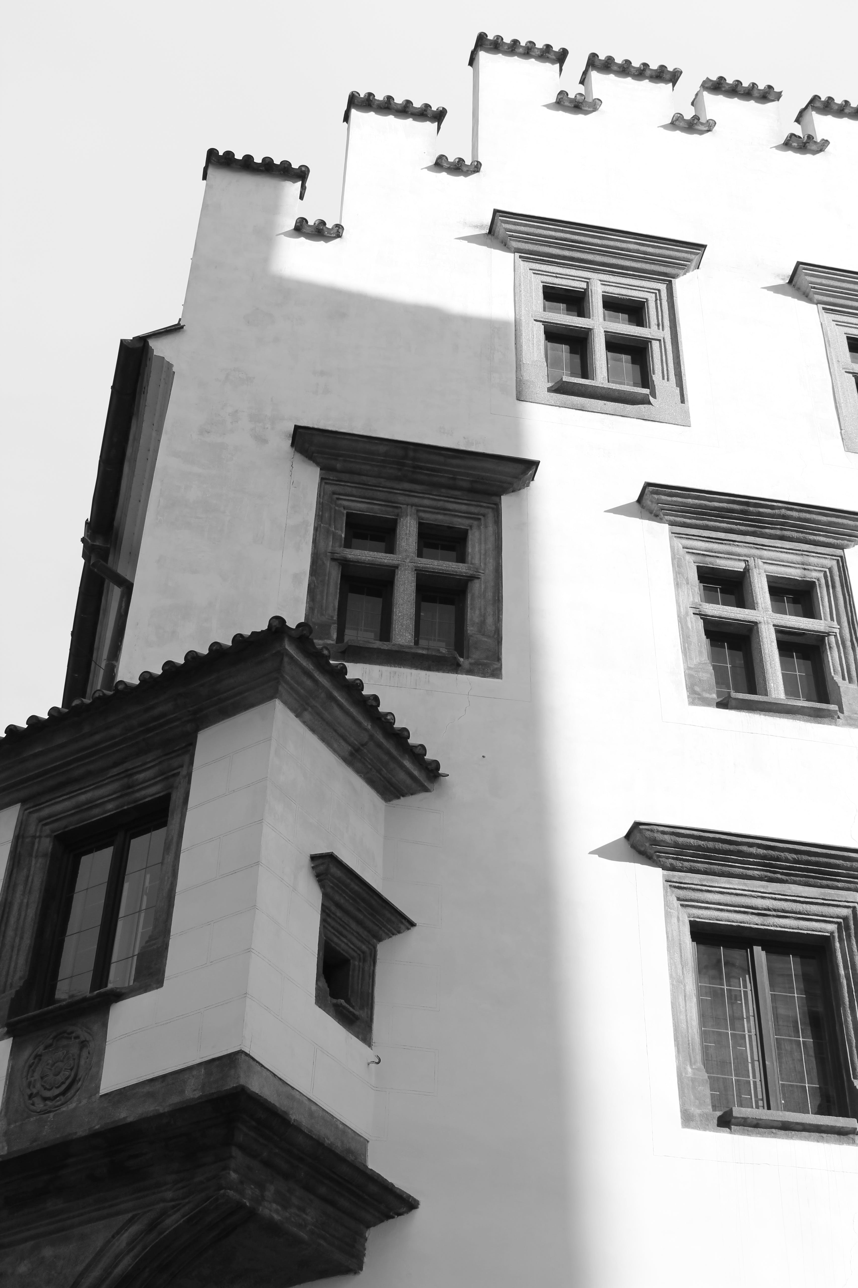 Free stock photo of black-and-white, building, house, architecture