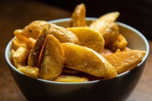 Close Up Photo of Fried Potato Wedges