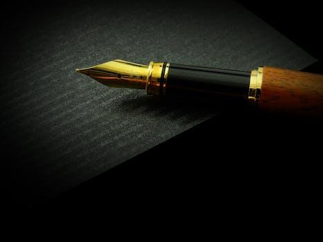 Free stock photo of pen, writing, classic, work