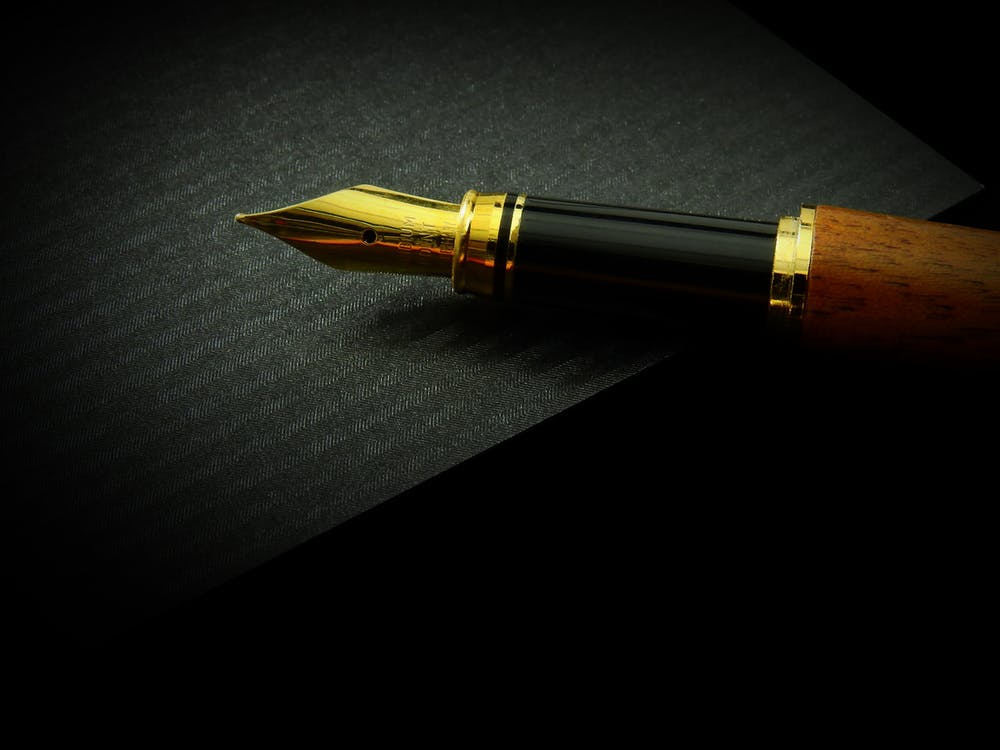 Gold Quill Pen