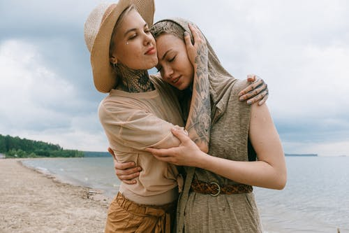 Woman Comforting Friend