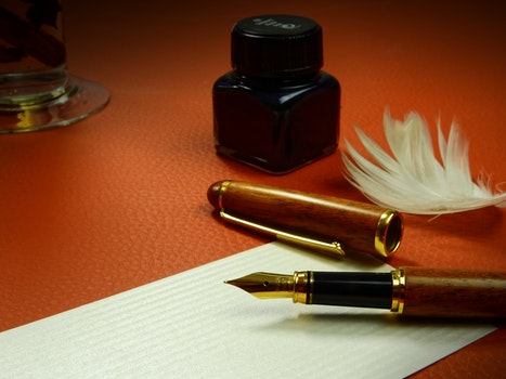 Free stock photo of office, pen, writing, table