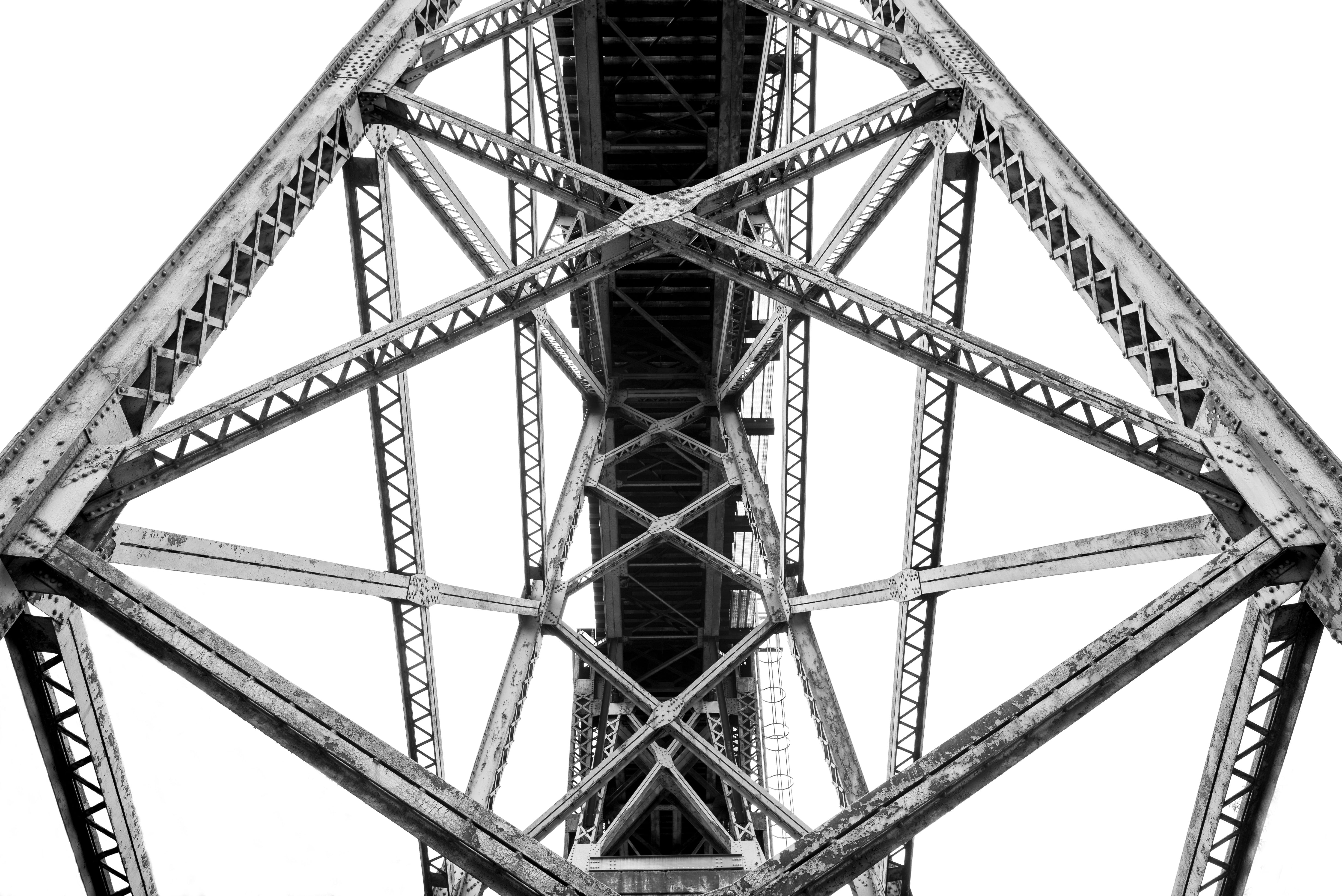 Worms Eye View Photography of Steel Structure