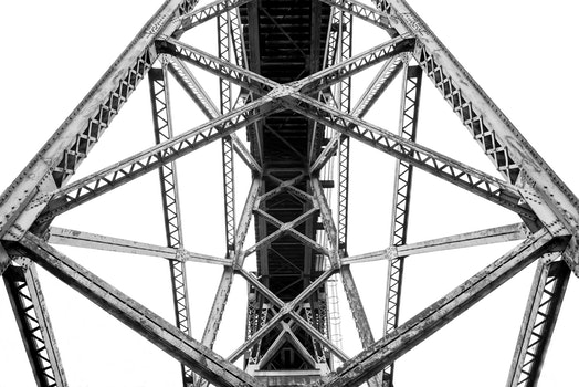 Free stock photo of black-and-white, construction, bridge, connection