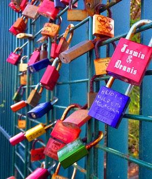 Free stock photo of love, heart, wall, fence