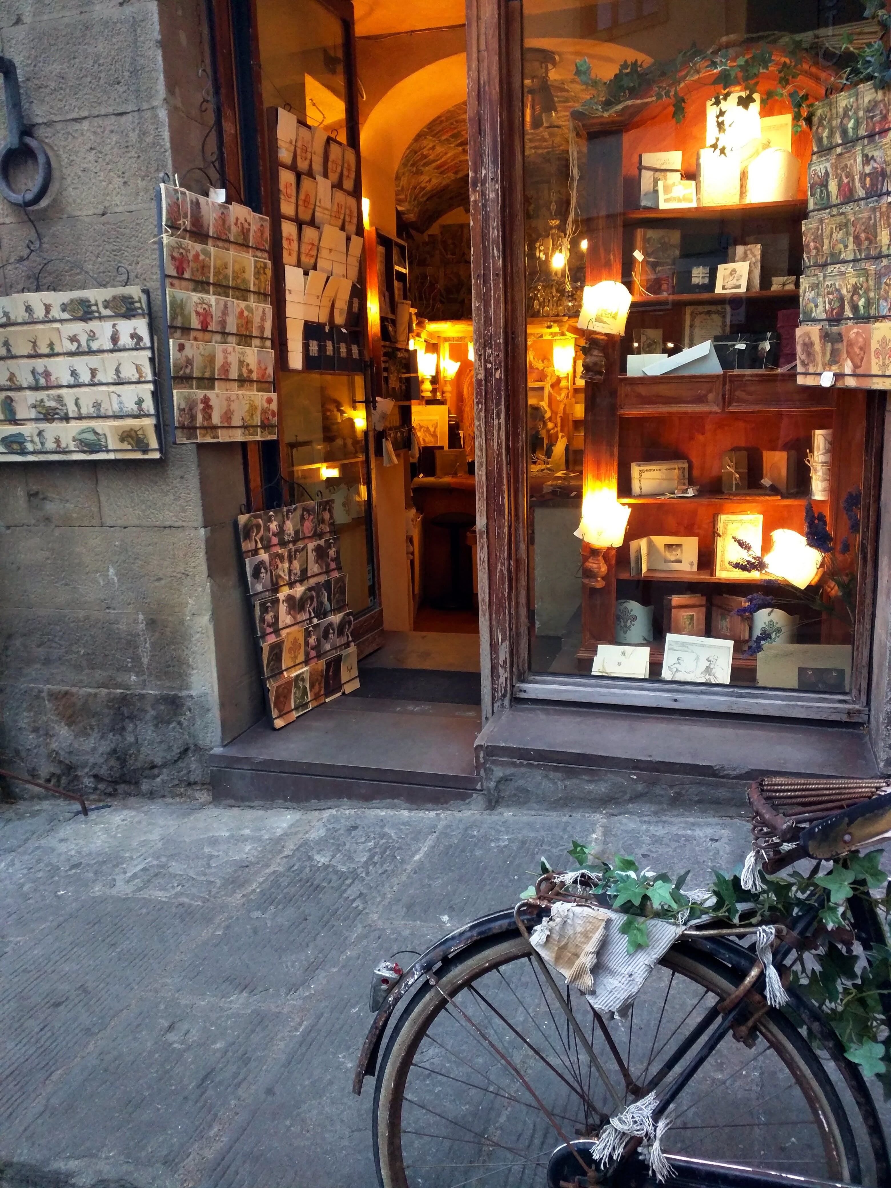 Free stock photo of bicycle, boutique, italy, lights