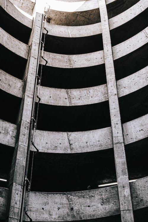 Free stock photo of circle, circles, empty, garage