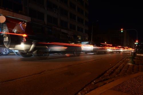 Fotos de stock gratuitas de calle, coches, larga exposición, movimiento